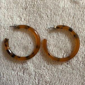 Tortoise Hoop earrings.